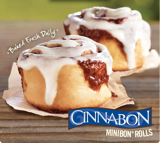 Baked Fresh Daily, Cinnabon minibon rolls