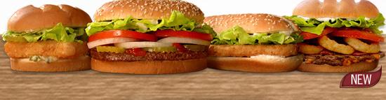 Original Chicken Sandwich, Bacon Cheddar Stuffed Burger